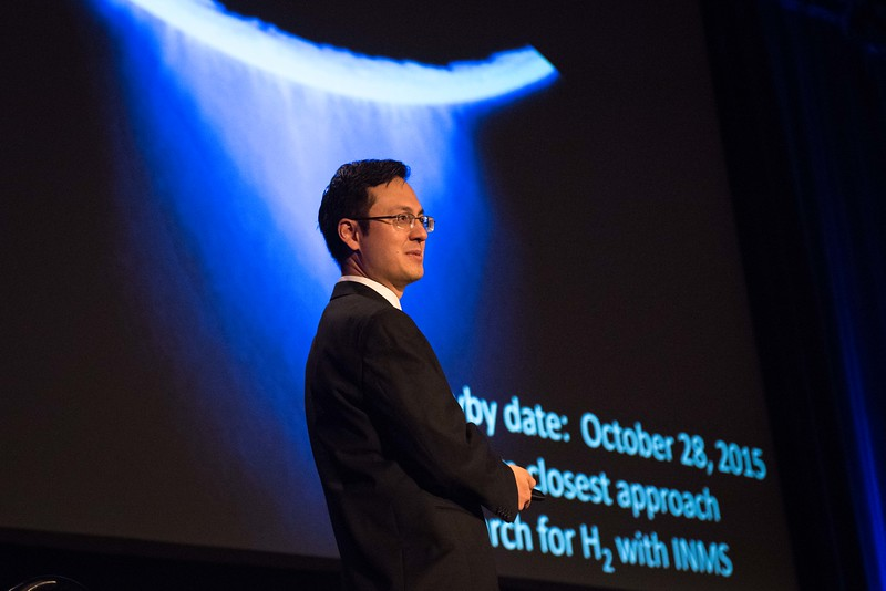 Attendees listen to Christopher Glein - The Ocean World Enceladus