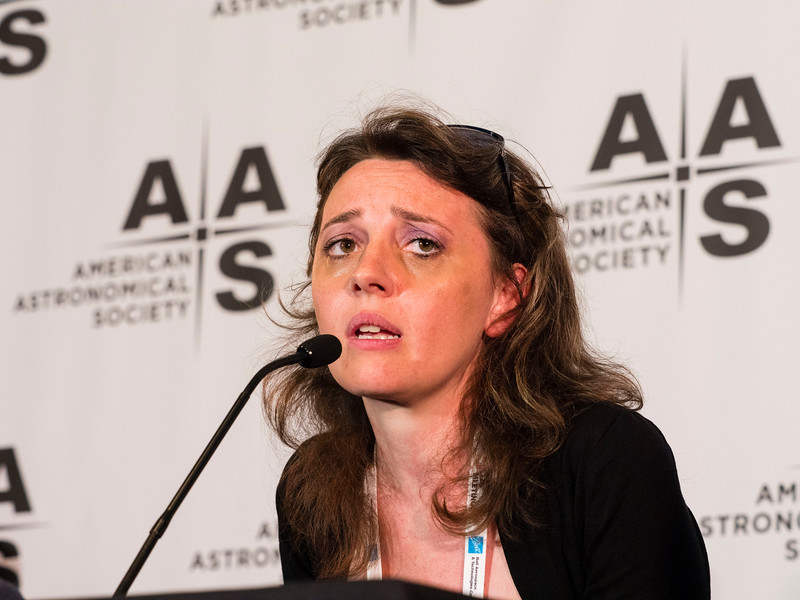 Maria Dainotti of Stanford University - the Press conference on Black Holes