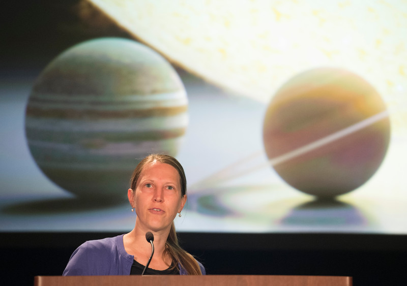 Speakers and attendees - 2015 Newton Lacy Pierce Prize Lecture: The Elephant in the Room: Effects of Distant, Massive Companions on Planetary System Architectures, presented Heather Knutson