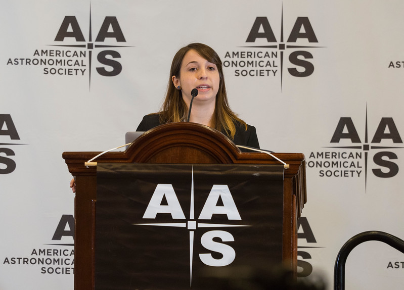 Julia Zachary (Wesleyan Univ) during Press Conference: Stars & Interstellar Space