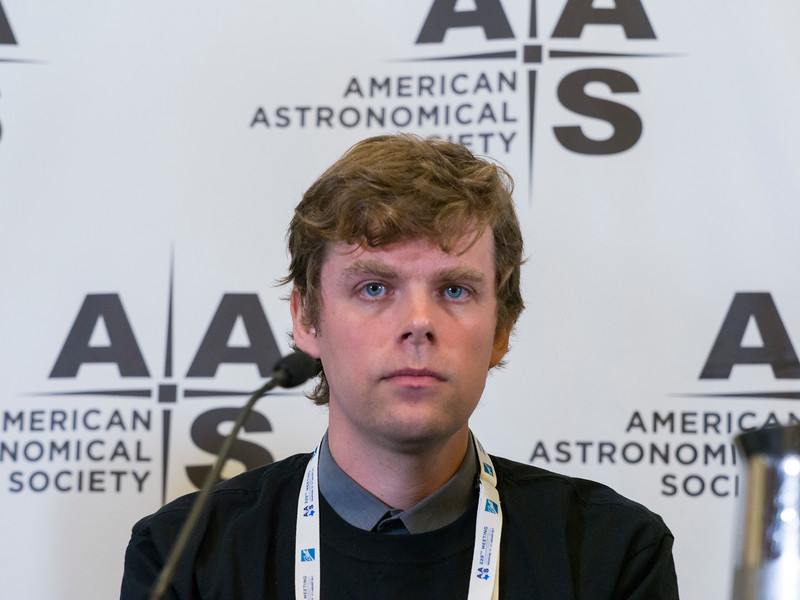 Reinout Van Weeren (Harvard-Smithsonian Center for Astrophysics) during Press Conference: Galaxies and Black Holes Therein