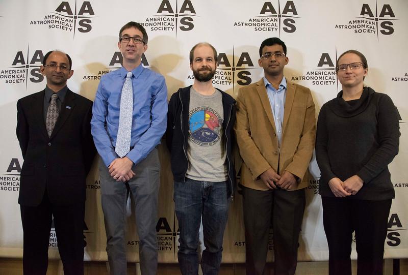 Shami Chatterjee, Casey Law, Jason Hessels, Shriharsh P. Tendulkar and Sarah Burke Spolaor - morning Press Conference