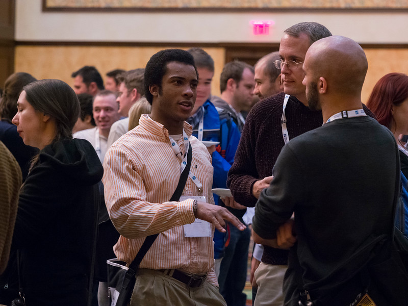 Attendees during Closing Reception