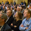 Speakers and attendees during NASA Townhall