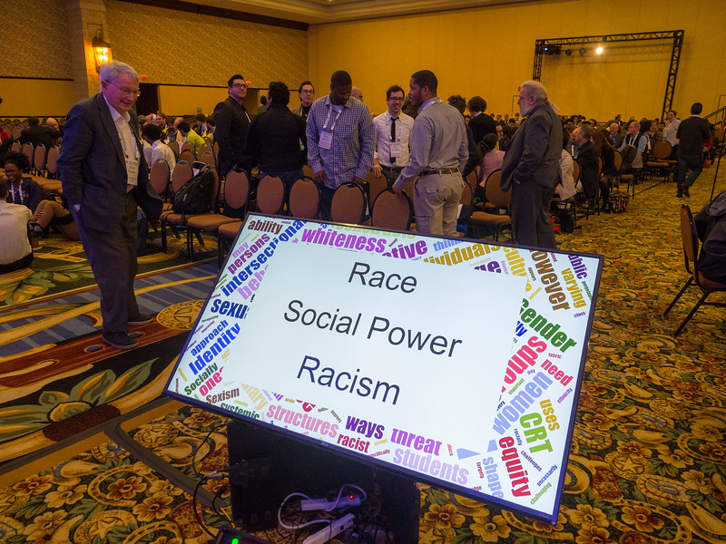 Speakers during Town Hall on Racism