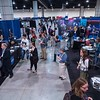Attendees and presenters chat - Friday's Poster Session