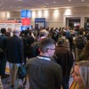 Attendees enter ehibit hall - Thursday Exhibits
