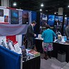 Attendees chat with Exhibitors - Thursday Exhibits