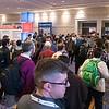 Attendees enter ehibit hall - Thursday Exhibits
