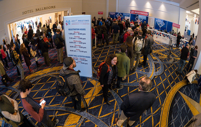 Attendees in line - Registration opening