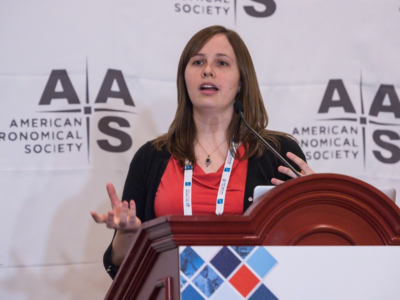 Catherine Grier speaks - Press Conference: An Alphabet Soup of Science from SDSS (APOGEE/eBOSS/MaNGA)