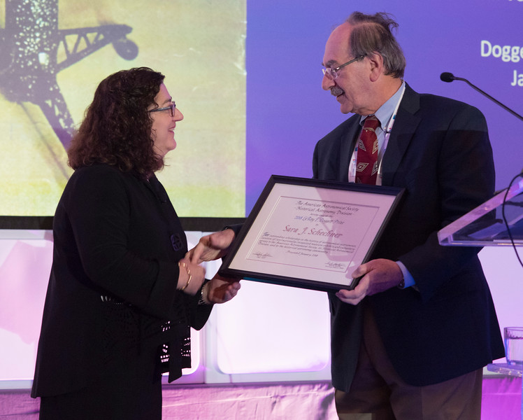 HAD LeRoy E. Doggett Prize for Historical Astronomy: Tangible Things of American Astronomy, Sara Schechner