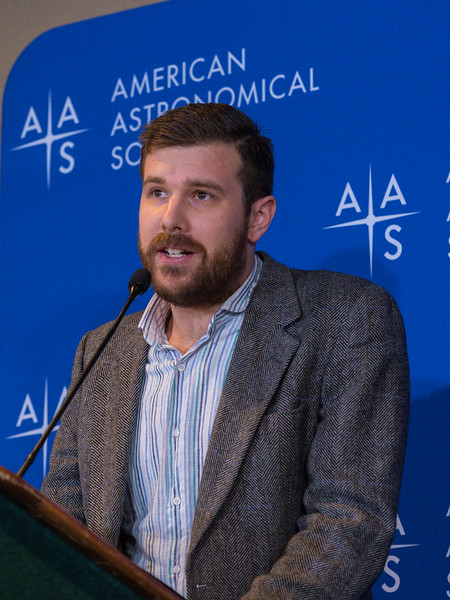Michael Fausnaugh speaks - Press conference: Early Science from the Transiting Exopanet Survey Satelite