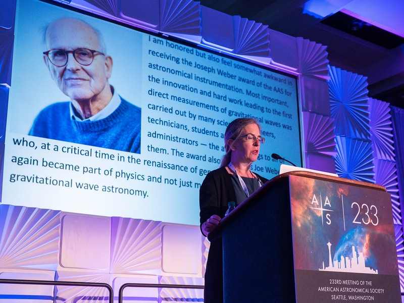 AAS President Megan Donahue announces awardees - Session 200: AAS Prize Presentations