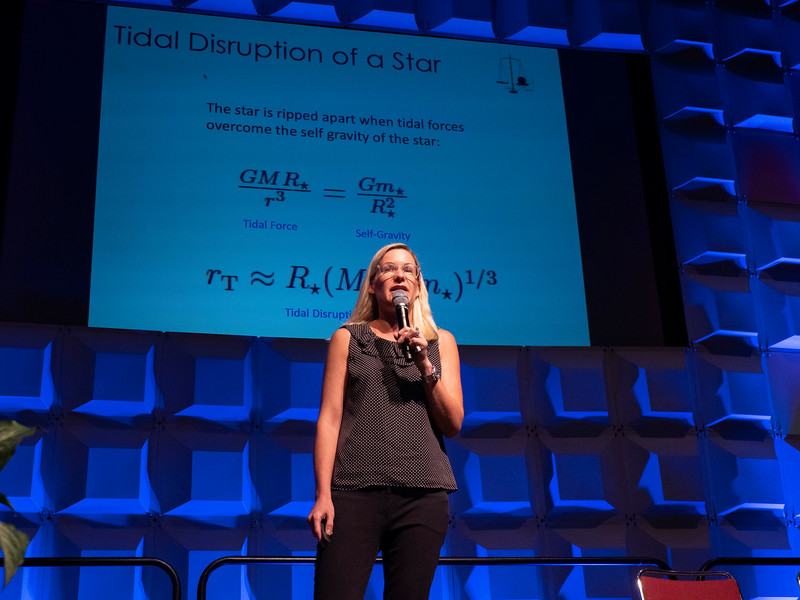 Suvi Gezari gives the lecture - Plenary Prize Lecture - Kavli Foundation Plenary Lecture: Black Holes Snacking on Stars: A Systematic Exploration of Transients in Galaxy Nuclei