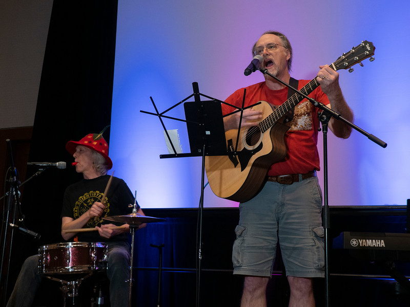 Attendees perform - Open Mic night