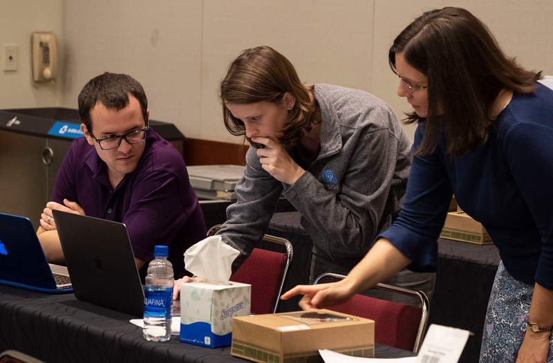 Attendees work together - Workshop: Everything you Needed to Know about JWST Exoplanet Transit Data How to Plan, Reduce, and Fit your Data with the Exoplanet Characterization Toolkit