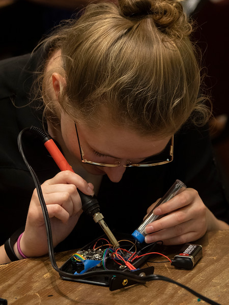 Attendees work together - Workshop: LightSound: Learn to Build Sonification Tool to Make your Classes and Outreach Events More Inclusive