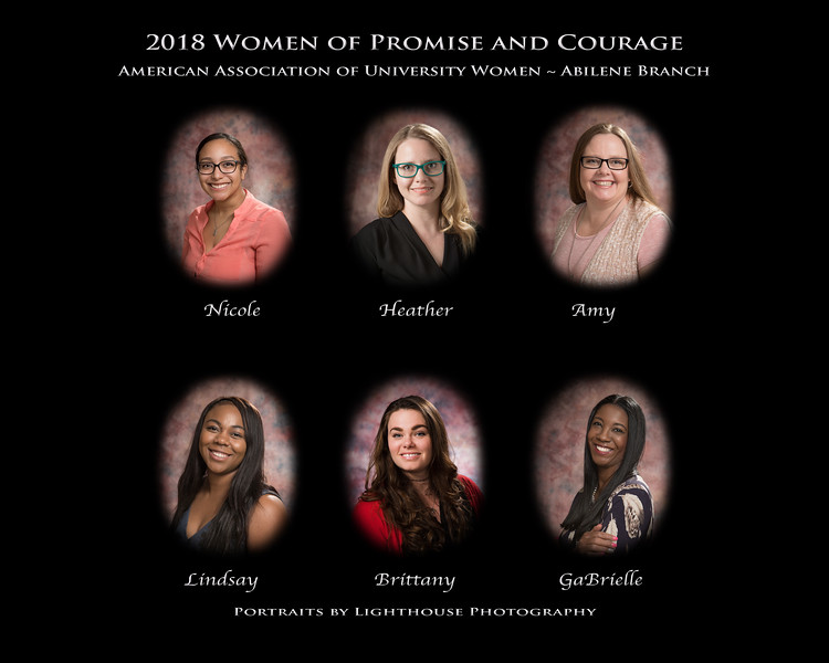 2018 AAUW-Abilene Women of Promise and Courage