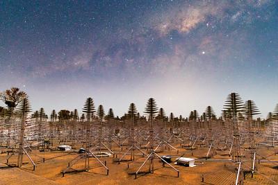 Milky Way overhead the AAVs