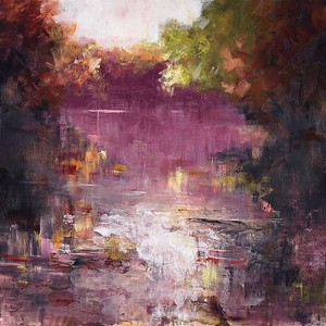 """""""Blurred Vision"""" by Torabi, 50""""x51"""" painting on canvas"""