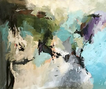 "Abstract by Browning (AECB18-01), 52""x64"" on canvas"