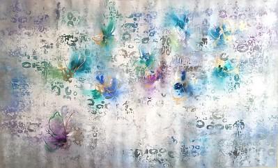 "Nari-36""hx60""w acrylic painting on loose canvas"