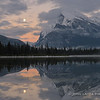 Moon Rise and Mount Rundle