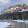 Castle Mountain and Bow River