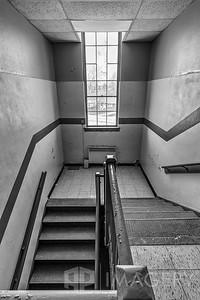 Upstairs - Black and White