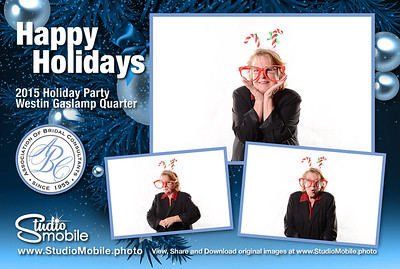 Images & Prints from the PhotoLounge Photobooth at the 2015 SDABC Holiday Party. https://www.StudioMobile.photo