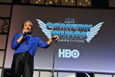 Five new comedians battle it out for the 2016 Comedy Wings title at the 20th Anniversary of the American Black Film Festival on June 17, 2016 at the Loews Hotel in Miami Beach, FL, USA  Photo by: Aaron J. / ABFF / RedCarpetImages.net