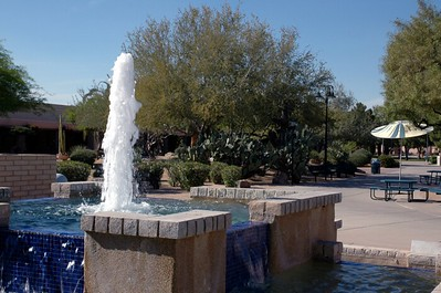 Campus fountain