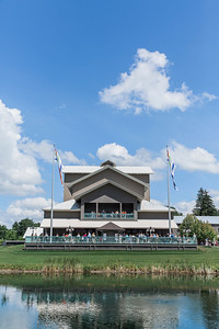 The Glimmerglass Festival Alice Busch Opera Theater. Designed by Hugh Hardy, the theater features unique sliding walls that open prior to performances and at intermission. Photo: Karli Cadel/The Glimmerglass Festival.