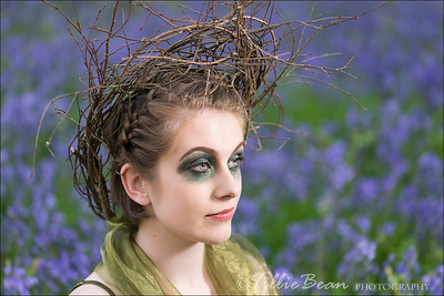 Woodland Fairy in the Bluebell Wood