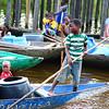 Boy Rowing a Piroque