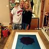 Mike and Norlynne at Michael Vigil print shop