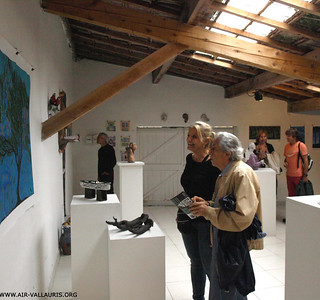 Local Vallauris Artist and Norlynne Discussing Painting