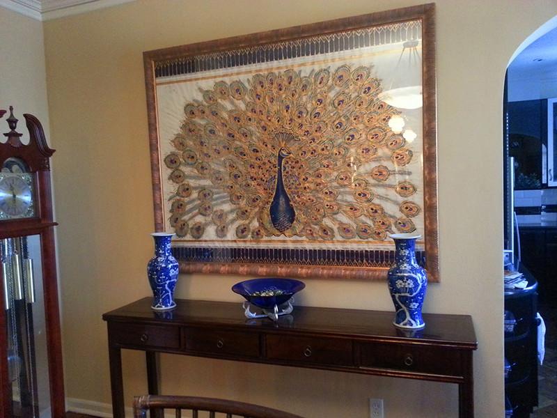 Peacock Installation