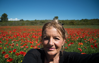 Selfie in a Field of Poppies