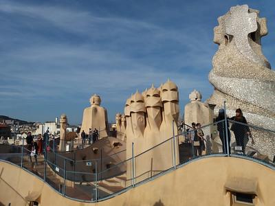 Gaudí Casa Mia rooftop, Barcelona, Spain