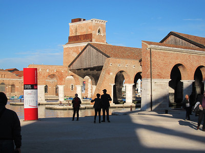 Shadows at the Arsenale, Venice
