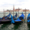 Gondolas beside the Grand Canal, Venice