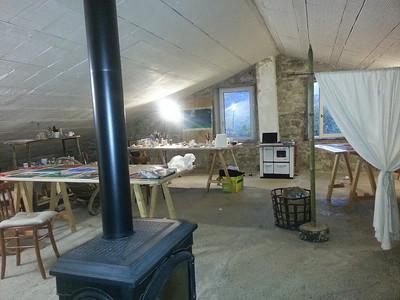 Ginestrelle studio with work in progress