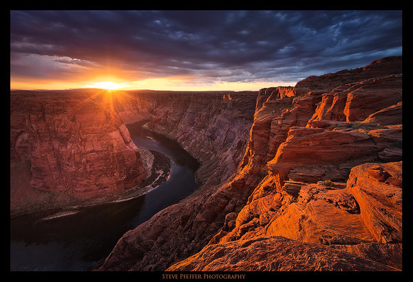 Another image captured during sunrise by a client at a remote location on the Grand Canyon.