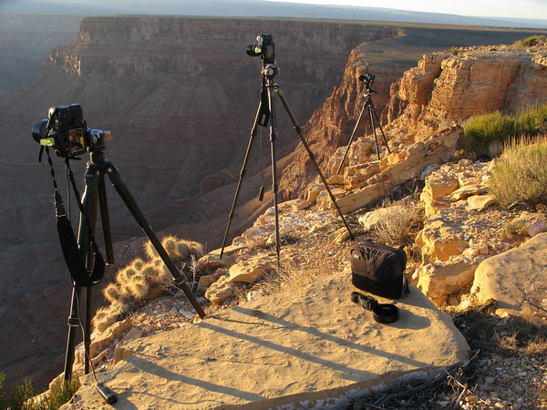 Tripod positions on the edge!