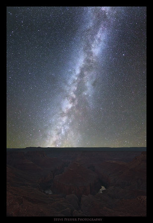 "Milky-way over Tatahaso Point during the ""4 Bends in 4 days"" workshop.  Photo by client Steve Pfeffer."