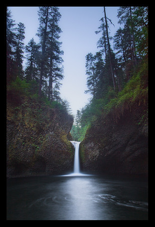 "An original take on Punchbowl Falls.  Image captured by Charles Payet on ""The Pearls of Oregon"" (Spring) tour/workshop."