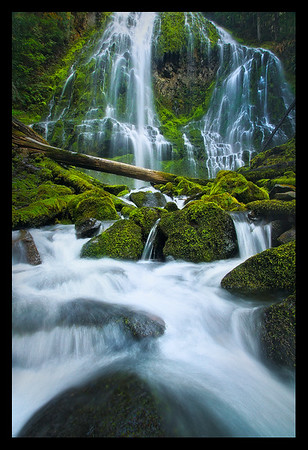 "Photo taken by client, Chip Payet, during the ""The Pearls of Oregon"" workshop. (Proxy falls)"