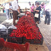 All of a sudden there were cherries everywhere at the Estremoz Saturday market.